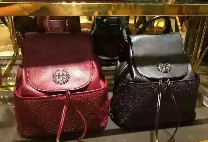 39b60b2512f 米蘭店☆TORY BURCH MARION QUILTED BACKPACK 酒紅色 黑色菱格