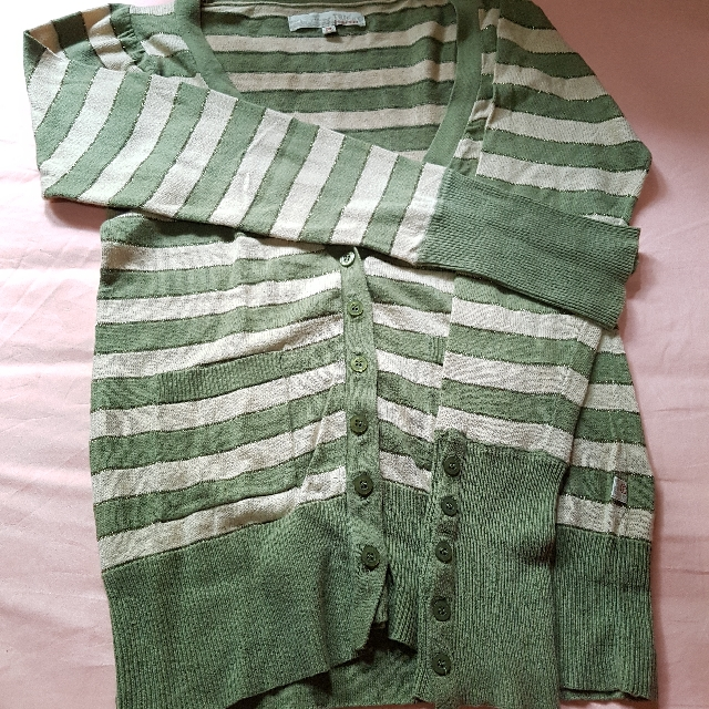 TRISET - Cardigan Green Stripes