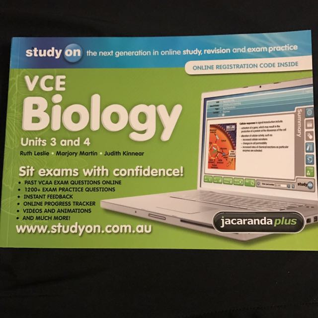 VCE Biology units 3 + 4 Practice Questions Textbook
