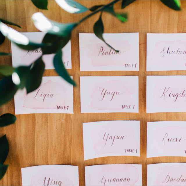 Wedding Escort Cards