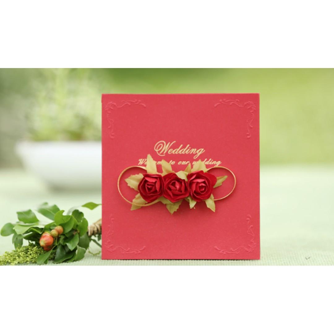 Wedding invitation card rose flower cover | Wedding Card | Invite ...