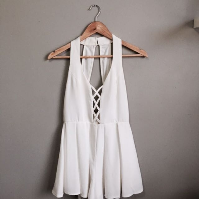 White Cross Playsuit