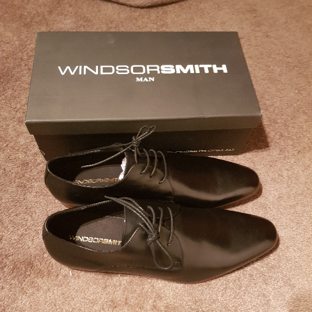 Windsor Smith Black Leather Shoes