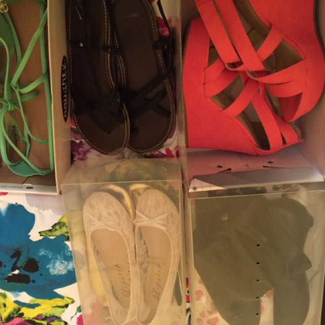 Women's Assorted Sandals Boots Wedges Shoes Size 8 9 $2 A Pair