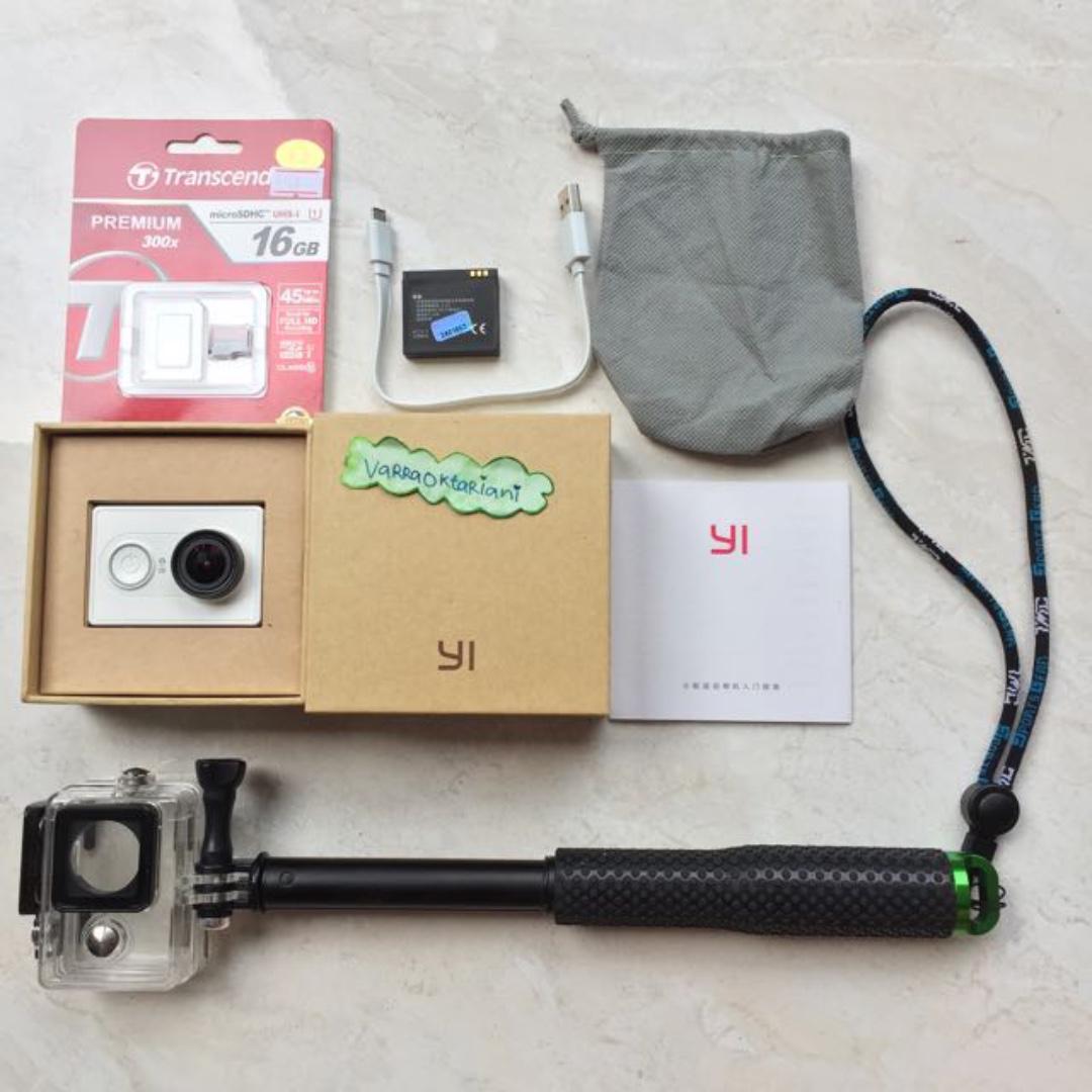 Xiaomi Yi Action Camera Basic FULL SET MULUS - Siap Pakai