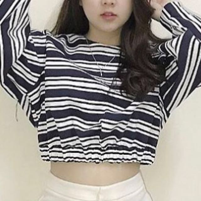 Zara - Stripe Crop Tee