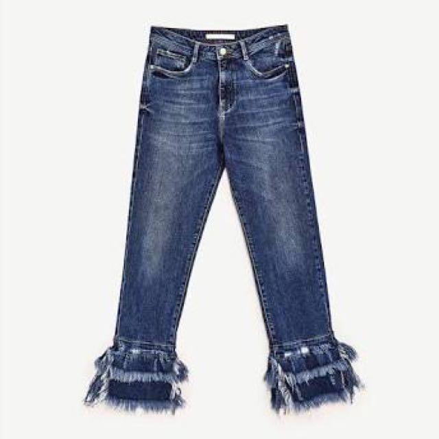 Zara Frayed Jeans