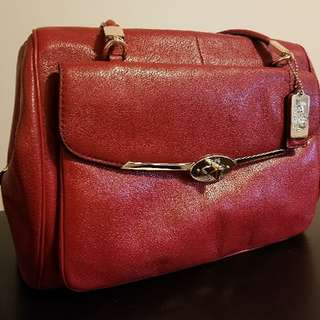 Authentic Red Coach Bag/Purse