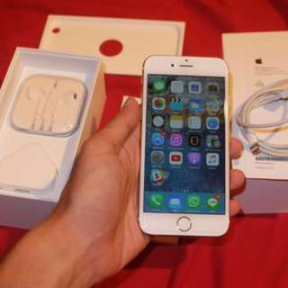 For Sale iPhone 6 32 gb gold (garansi inter aktif s/d Mei 2018)