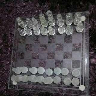 Glass Chess Set 20cm × 20cm