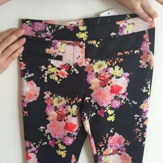 Floral Pants Jeggings