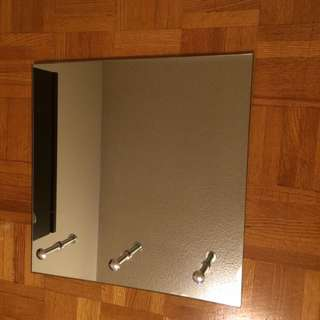 Wall Mirror with Three Hooks - Retail: $69.99