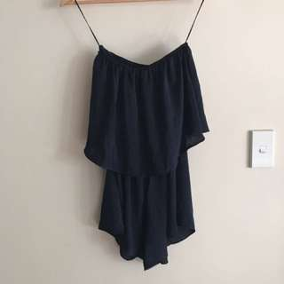 Luxe Navy Playsuit