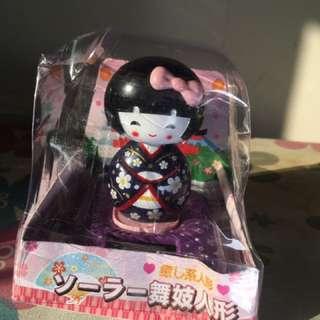 Cute Japanese Girl In Black Dress Solar Shake Head
