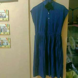 Dress Blue Polka