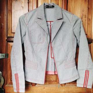Gray Stripes Blazer