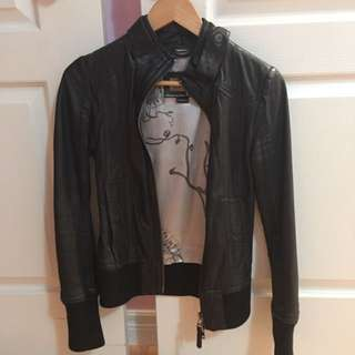 Aritzia Mackage Elie Leather Jacket
