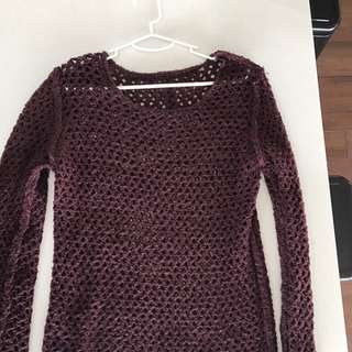 Maroon Knit Jumper