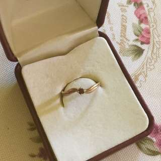 9ct gold genuine garnet child's ring