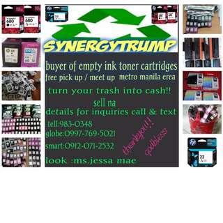 buyer of empty ink toner  unsealed cartridges