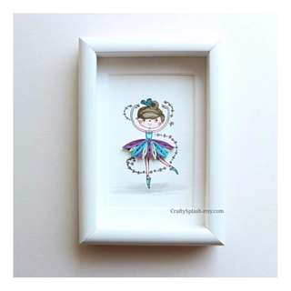 Ballerina Gifts - handmade Ballerina wall art - birthday gifts - gift for dancers - gift for girl