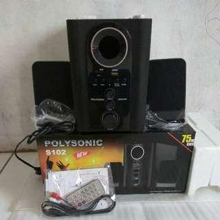 Speaker Polysonic/Speaker Bass/Speaker/Speaker Aktif/Speakers Polysonic S102