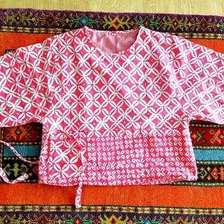 Pink Batik Blouse Kimono