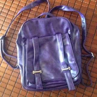 Violet trendy backpack
