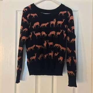 Black Deer Jumper