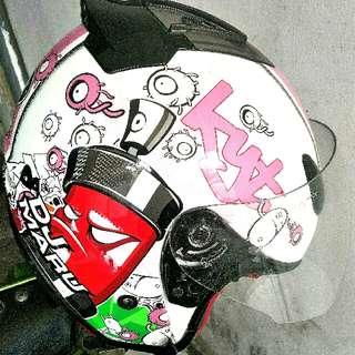 Helm kyt motif pink