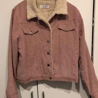 ACHE dusty pink cord jacket