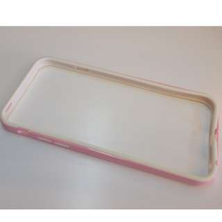 iphone6 6s 粉配白 TPU邊框手機殼