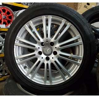 USED SPORT RIM FOR MERCEDES BENZ W212 FACELIFT DESIGN 20inch SIAP TAYAR 90%