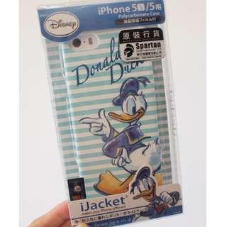 日本原裝 迪士尼唐老鴨iphone5 5S SE硬殼手機殼
