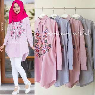 Flower Embroiderry Tunik