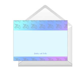 Personalized Note Cards - Unicorn Gradient