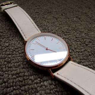 Rose Gold Leather Band (fake Leather) Watch