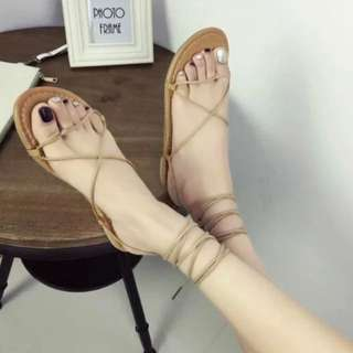 綁帶鞋 (杏色)