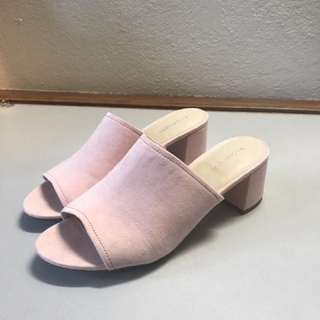 Glassons 9 Pink Suede Mules