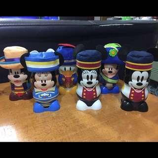 日本Disney 鐵罐擺設(淨罐)1套6件