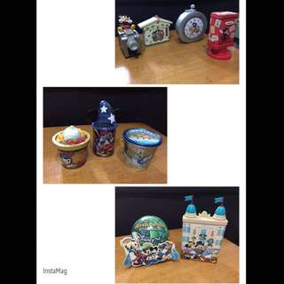 日本Disney 鐡罐擺設(浄罐)1套9件