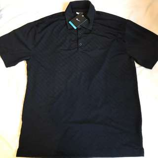 New With Tags Nike Dri Fit Golf Polo Shirt Black Large
