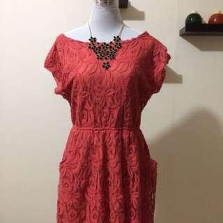 Lace Dress (Pink - Large Size)