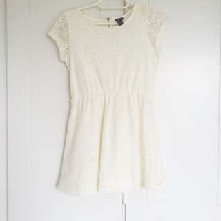 Forever 21 White Laced Dress