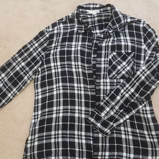 Checkered Black and White Shirt