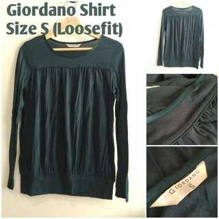 Giordano Shirt Hijau Tua