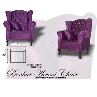 Benhur Accent Chair Uratex Foam Sofa Set Sala Set (Reprice)