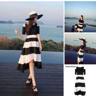 black stripe dress