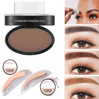 Professional Natural Eyebrow Stamp Brow Powder Delicate Palette Beauty Makeup Tool