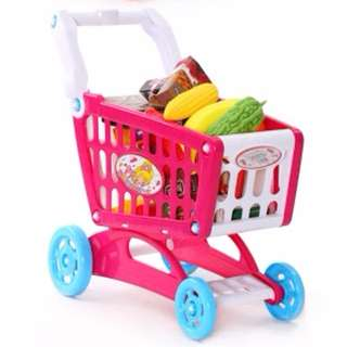 Shopping cart. Baby Puzzle Set Children over true The kindergarten. Toy car English